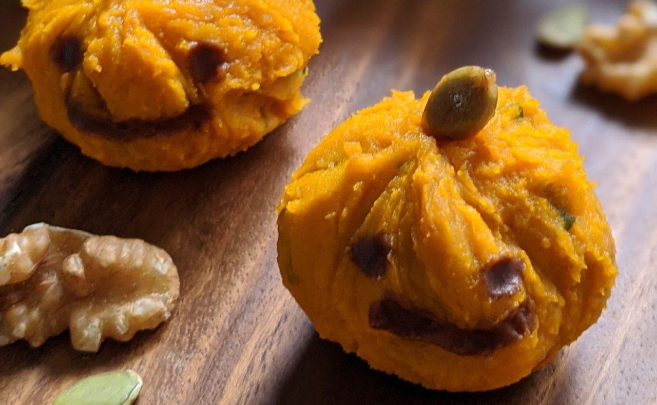 【レシピ】はちみつかぼちゃの茶巾絞り